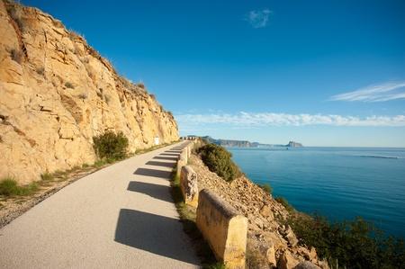 altea: Mountain road above Altea Bay, Costa Blanca, Alicante, Spain