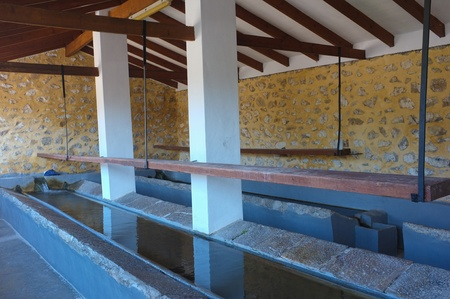 washhouse: Interior of a traditional washhouse