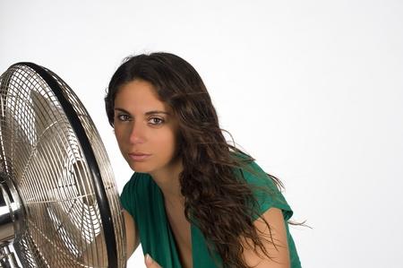 sudoroso: �Est� buscando refugio al lado de un ventilador