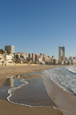 Placid tide at Benidorm beach, Costa Blanca, Spain Stock Photo - 12884975