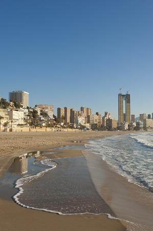 Placid tide at Benidorm beach, Costa Blanca, Spain Stock Photo - 12884975