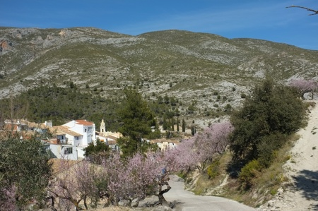 costa blanca: A scenic mountain village inland Costa Blanca, Spain