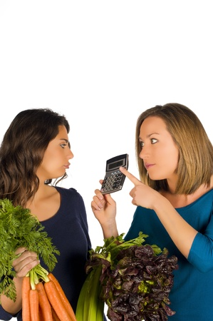nothing: Nothing but counting calories and eating vegetables Stock Photo