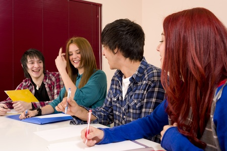 A relaxed, fun atmosphere inside the classroom Stock Photo - 12992045