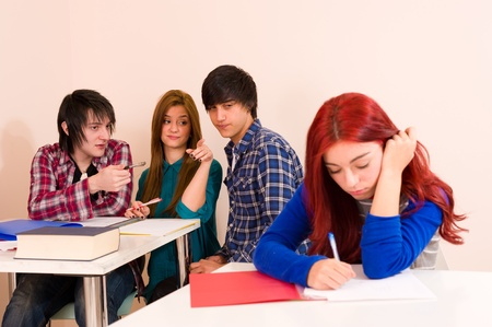 Female student excluded from the group