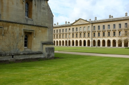Oxford Magadlen College courtyard and facade