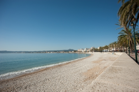 Javea wide bay and beach on a sunny morning Stock Photo - 13718754
