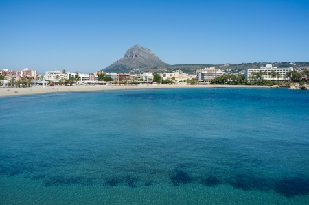 Javea bay with the Montgo in the background Stock Photo - 13797249