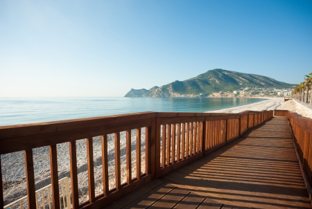 albir: A user friendly walkway leading down to the beach from the promenade
