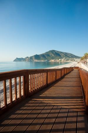 albir: Scenic Albir beach on the Costa Blanca, Spain