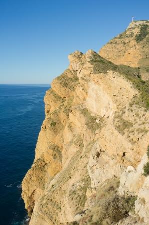 albir: Cliff landscape on Costa Blanca, Alicante, Spain
