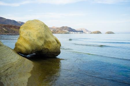 Bizarre volcanic rocks on Cabo de Gata coast, Spain Stock Photo - 13991789