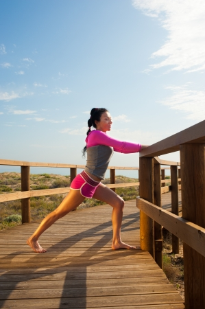 Starting her daily outdoor workout Stock Photo - 13983972