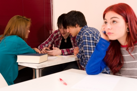 excluded: Excluded from the group, teenage problems at school