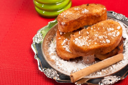 cuisines: Traditional Spanish food, sweet fried bread slices Stock Photo