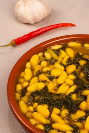 Portion of white bean stew seasoned with saffron Stock Photo - 14900463
