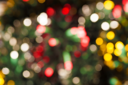 Abstract take of  colorful Christmas lights, a background Stock Photo - 15132928