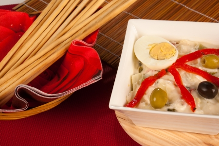 russian salad: Russian salad as a Spanish tapa, cultural merger