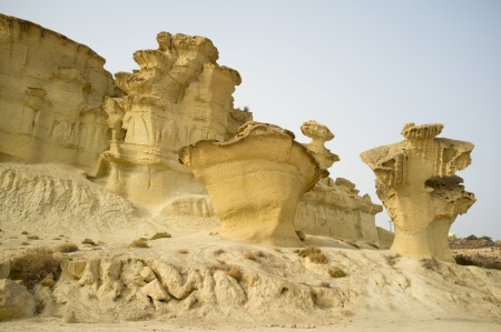 geological formation: Bizarre geological limestone formation near Mazarron, Murcia, Spain