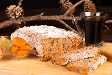 Mulled wine and stollen, a German classic photo
