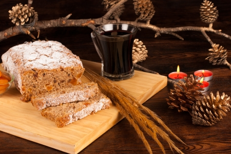 Greman Christstollen baked with whole wheat photo