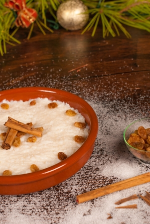 puerto rican arroz con dulce a traditional christmas treat stock photo 15553329