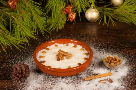 puerto rican: Sweet rice with coconut milk, a Puerto Rican Christmas classic