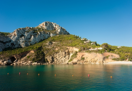 costa blanca: A secluded bay in Javea, on the Costa Blanca Stock Photo