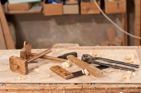 herramientas de carpinteria: Antiguo indicadores que marcan y otras herramientas de carpinter�a