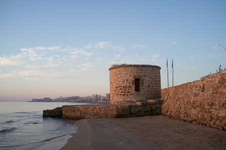 Watchtower on Torrevieja coast, Costa Blanca, Spain Stock Photo - 16123217