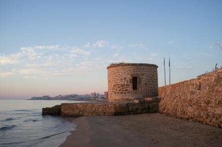 Watchtower on Torrevieja coast, Costa Blanca, Spain Stock Photo - 16123217