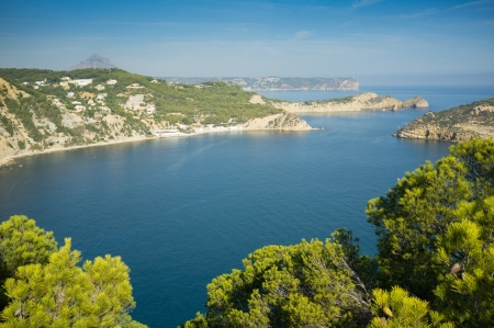 capes: View over the many capes and islands on Javea Coast, Costa Blanca,  Spain