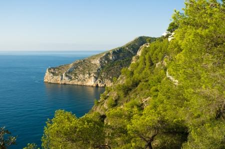 forested: Forested Mediterranean coast near Javea, Costa Blanca, Spain