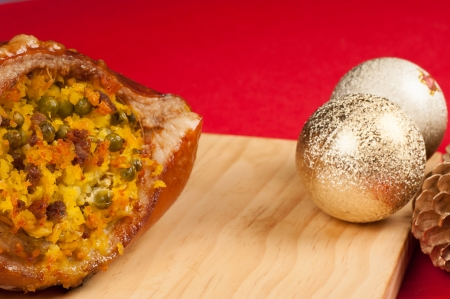 Stuffed roast pork, a Colombian Christmas classic photo