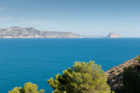 altea: Altea bay with Calpe resort in the background