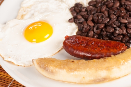 colombian food: Bandeja paisa, a hearty Colombian classic Stock Photo