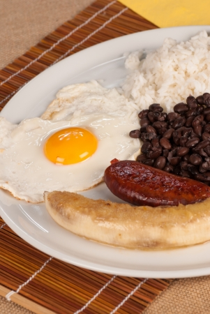 Bandeja paisa, a hearty  Colombian lunch photo