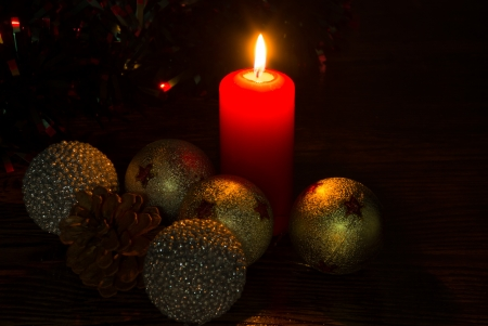 homely: Homely looking small still life with Christmas elements Stock Photo