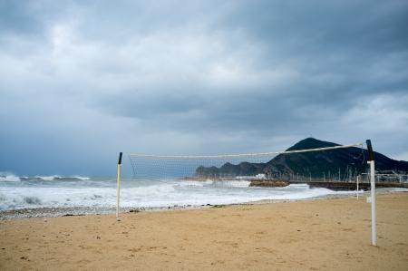 albir: Summer season is over, a resort beach swept by heavy storm