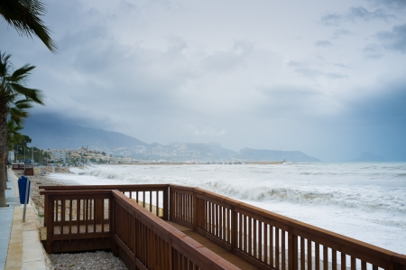 An autmn storm on a Mediterranean beach Stock Photo - 16513459
