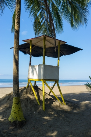 Shady place for the lifeguard to overlook a tropical beach Stock Photo - 16878715