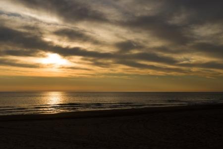 Stormy sunrise on a lonel Mediterranean sea Stock Photo - 16926846