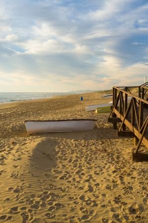 costa blanca: Idyllic Mediterranean beach at Guardamar, Costa Blanca