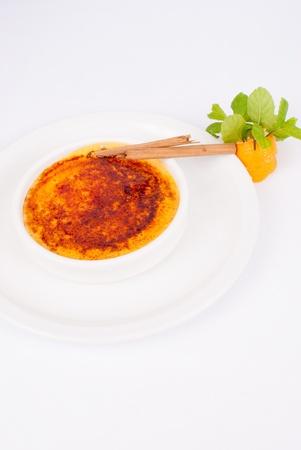 crema: Crema catalana, a traditional Spanish dessert glazed with caramelized sugar