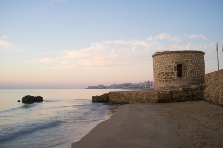 Watchtower on Torrevieja coast, Costa Blanca, Spain Stock Photo - 17181232