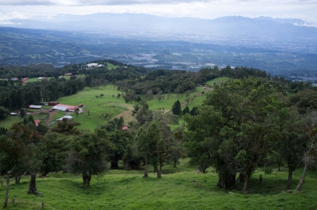 jose: View over Costa Rica Central  Valley from the Poas volcano