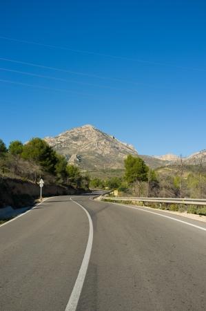costa blanca: Scenic moutainn road inland Costa Blanca, Spain