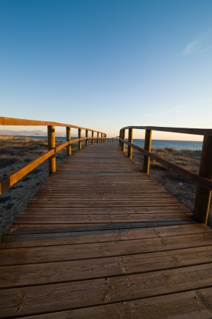 aerea: Footbridge in a protected coastal aerea