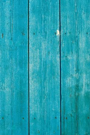 Old wooden planks in deep Mediterranean blue photo
