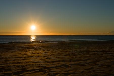 Sunrise on an idyllic beach in southern Alicante, Costa Blanca, Spain Stock Photo - 17369064
